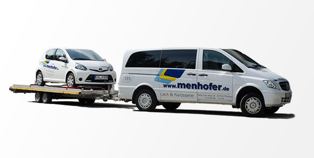 Ersatzwagen bei Menhofer KFZ-Reparaturzentrum in Pfronten